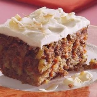 Healthy Carrot Cake With Yogurt Icing.