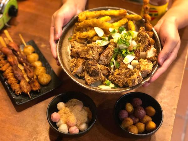 車庫鹽酥雞 不只是鹽酥雞,只有晚上才營業人氣依舊不滅。炸物、烤物、烤鮮蚵、炸湯圓、啤酒、牡蠣公仔麵種類多。