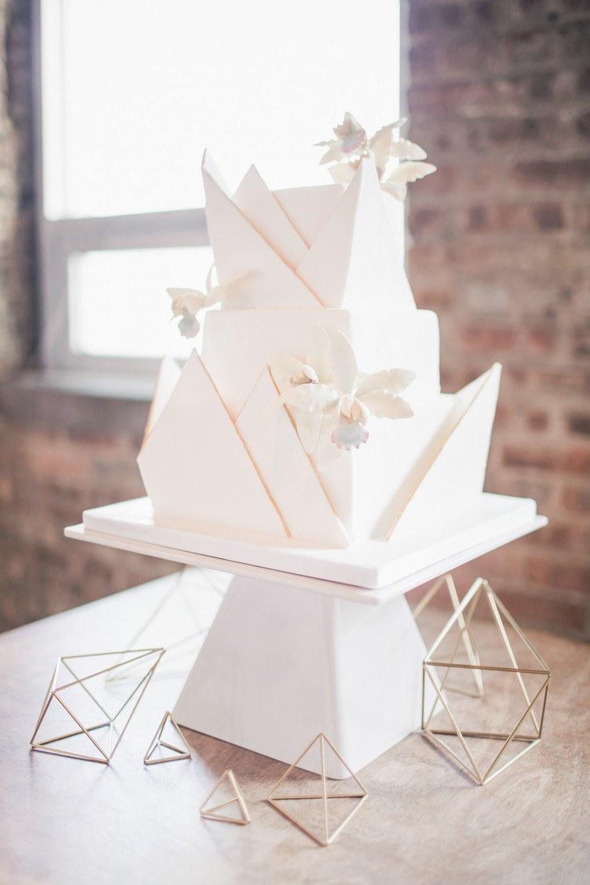 geometric wedding cake 4
