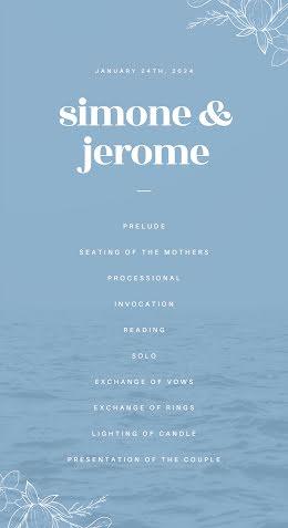 Simone & Jerome - Wedding Program item