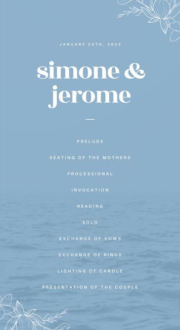 Simone & Jerome - Wedding Template