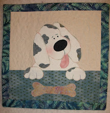 Photo: This cute puppy is from our pattern HBH101 Furever Friends - this was pattern #1 for Harebrained Happenings