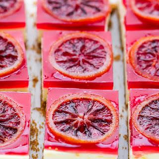 Blood Orange Cheesecake Squares