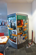 Photo: Man with a Microphone travelling exhibition stand at the Charles Parker Day 2014