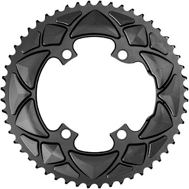 Absolute Black Premium Round 110 BCD Road Outer Chainring for Shimano Dura-Ace 9100 - 50t, 110 Shimano Asymmetric B alternate image 1
