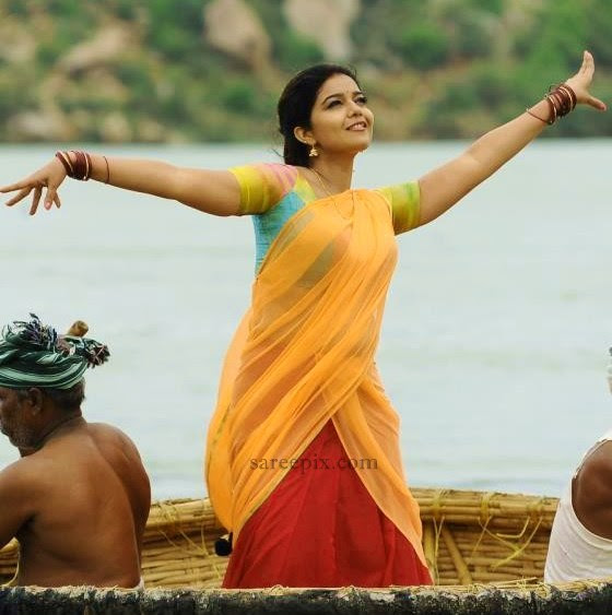 Colors-Swathi-waving-hands-half-saree
