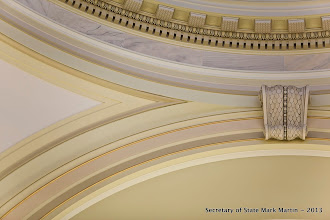 Photo: The finished restoration of the Capitol rotunda ceiling back to the way it looked in 1911
