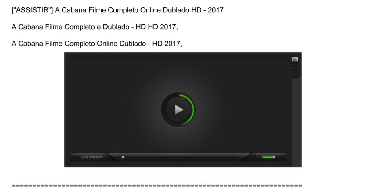 a cabana legendado download