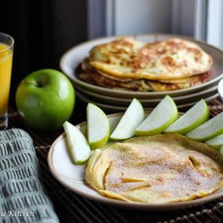 German Apple Crepe Pancakes