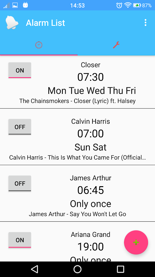 CoolAlarm:YouTube Alarm Clock- screenshot