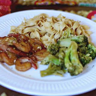 Honey Garlic Shrimp Noodles.