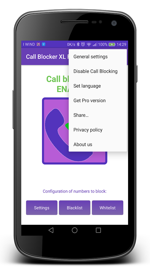 Call Blocker XL- screenshot