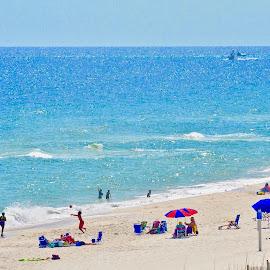 Endless Summer by Victoria Eversole - Landscapes Beaches ( alabama coastline, leisure, people, orange beach )