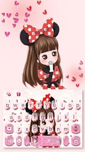 Lovely Bowknot Girl Keyboard Theme 1.0 Mod + Data for Android 1
