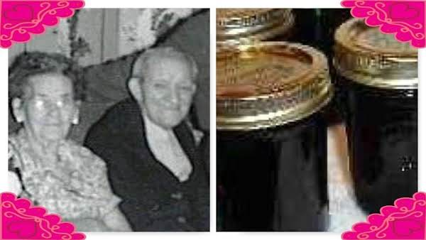 My Great Grandparents, Charlotte And William Kennedy.  Mogan David Wine Jelly.