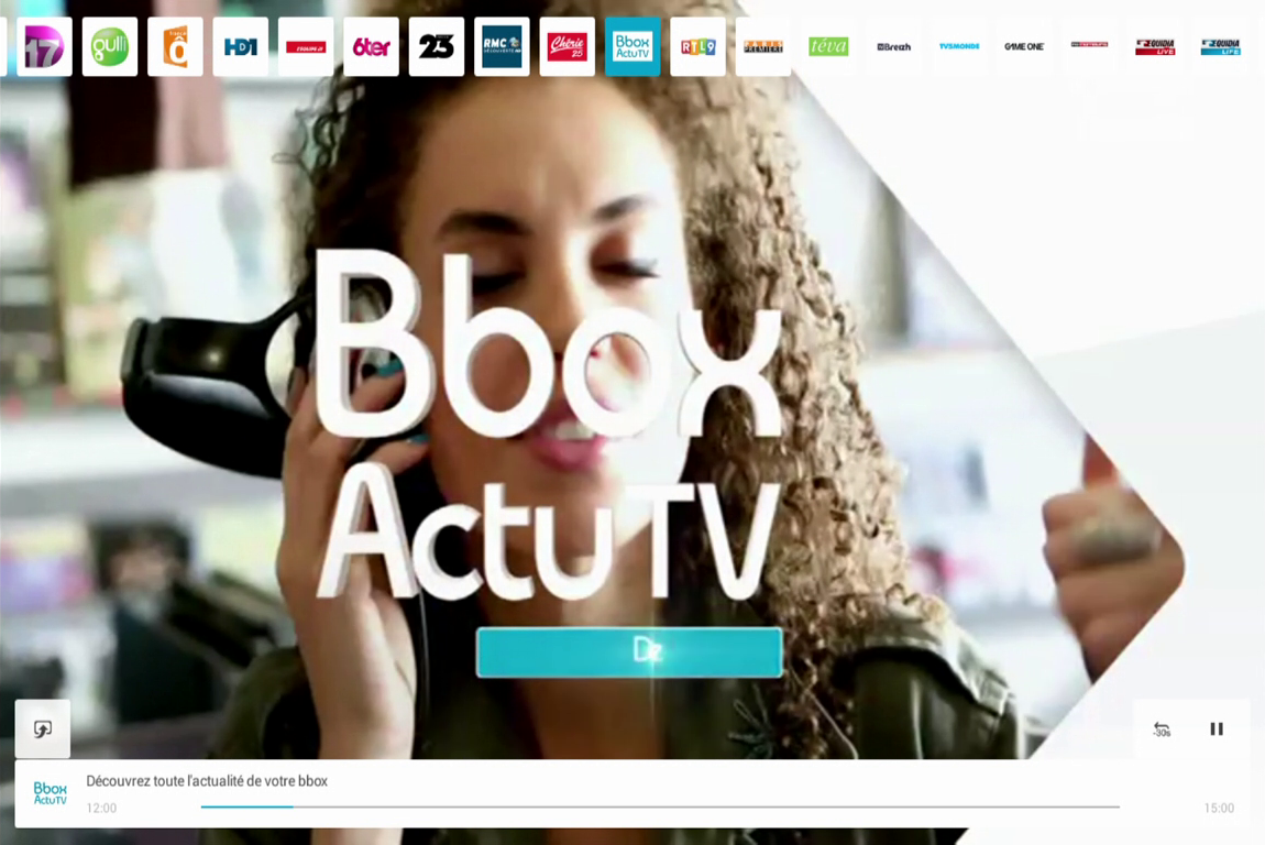 B.tv tablette- screenshot