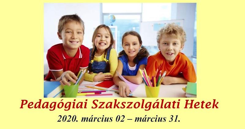 Pedagógiai Szakszolgálati Hetek Kaposvári Tagintézmény 2020 március