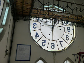 Photo: View of one clock face from inside