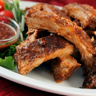 Oven Grilled Spareribs.