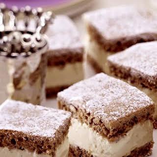 Walnut Cake with Mascarpone Cream.
