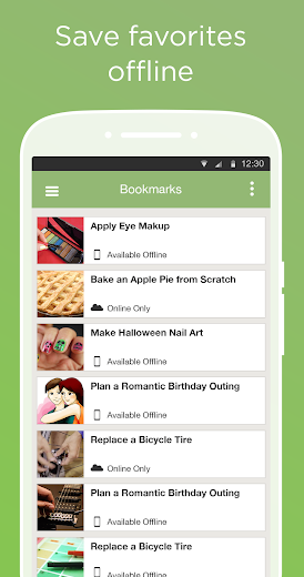 Screenshot 3 for wikiHow's Android app'