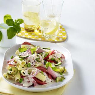 Pasta Salad with Tuna and Roast Beef.