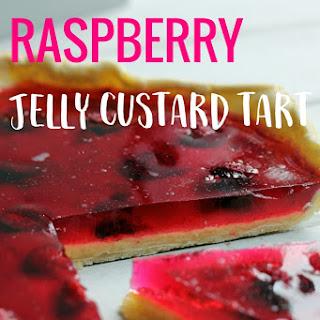 Raspberry Jelly Custard Tart.