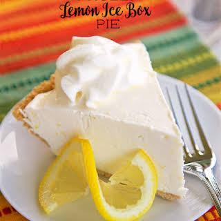 Frozen Lemon Icebox Pie.