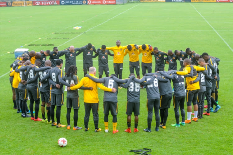 Kaizer Chiefs team during the Kaizer Chiefs media open day at Kaizer Chiefs Village on April 18, 2018 in Johannesburg, South Africa.