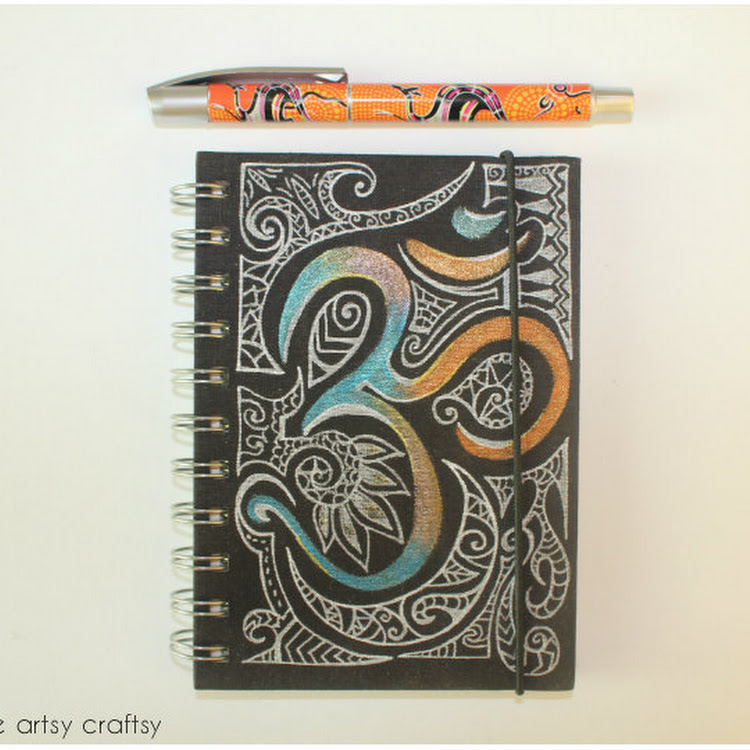 OM - A5 notebook by The Artsy Craftsy