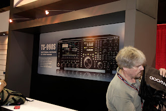 Photo: A poster of the new Kenwood TS-990S showing some key specifications.