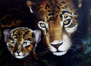 Photo: WL013 Jag and Baby (for 18 x 24 canvas) $7.99