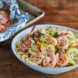 Freezer-to-Oven Shrimp Scampi.