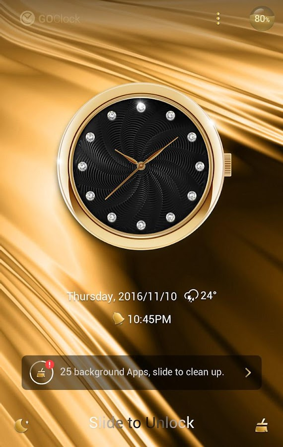 Grazioso GO Clock Theme- screenshot