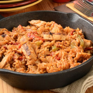 Hearty Mexican Rice And Chicken.