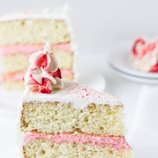 Peppermint White Chocolate Cake.