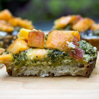 Peach, Pesto, Ricotta Appetizers Recipe
