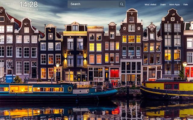 Amsterdam Wallpapers Theme New Tab
