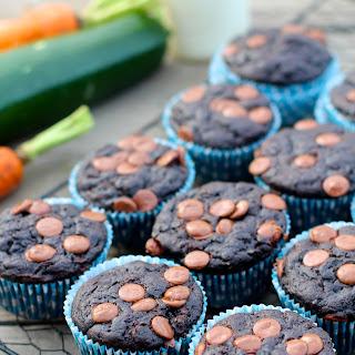 Carrot Zucchini Chocolate Muffins.