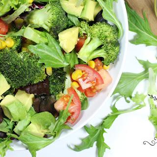 Veggie Salad with Lemon Honey Dressing