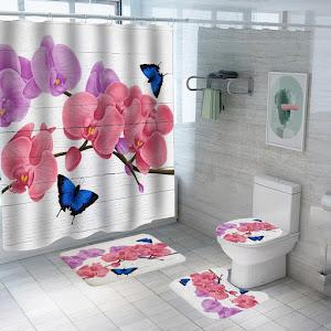 Set pentru baie: perdea, covorase si husa de toaleta, Spring