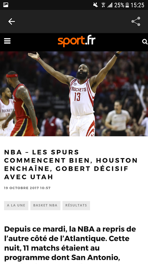 Sport.fr : actu sports en direct- screenshot