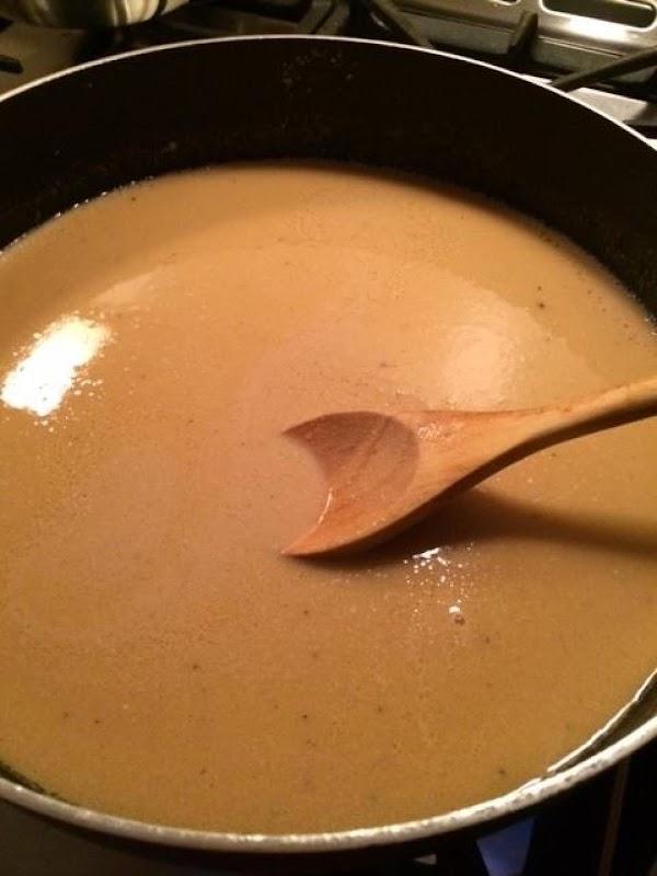 Make Gravy:  melt butter in skillet; whisk in flour stirring constantly.  Add beef...