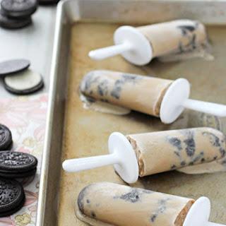 Coffee Coconut Milk Cookies & Cream Popsicles.