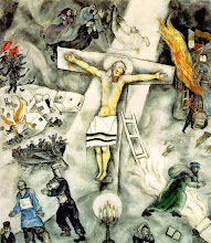 Photo: Title: White Crucifixion Artist: Marc Chagall Medium: Oil on canvas Size: 154.3 x 139.7 cm Date: 1938 Location: The Art Institute of Chicago http://iconsandimagery.blogspot.com/2009/07/white-crucifixion.html