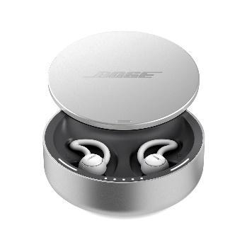 Bose noise-masking sleepbuds in their charging case