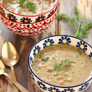 Polish Mushroom Soup with Barley.