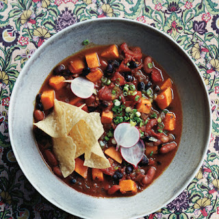 Slow-Cooker Vegetarian Chili With Sweet Potatoes.