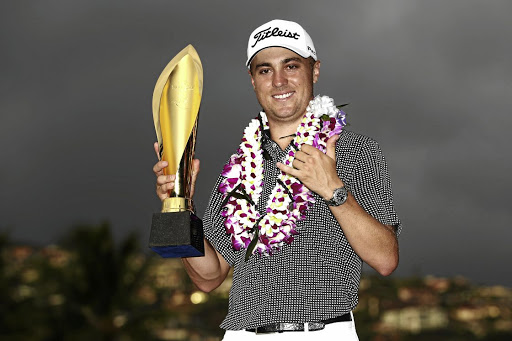 Show stopper:  Justin Thomas fired a 253 aggregate — the best yet over 72 holes — to win the Sony Open. Picture: GETTY IMAGES