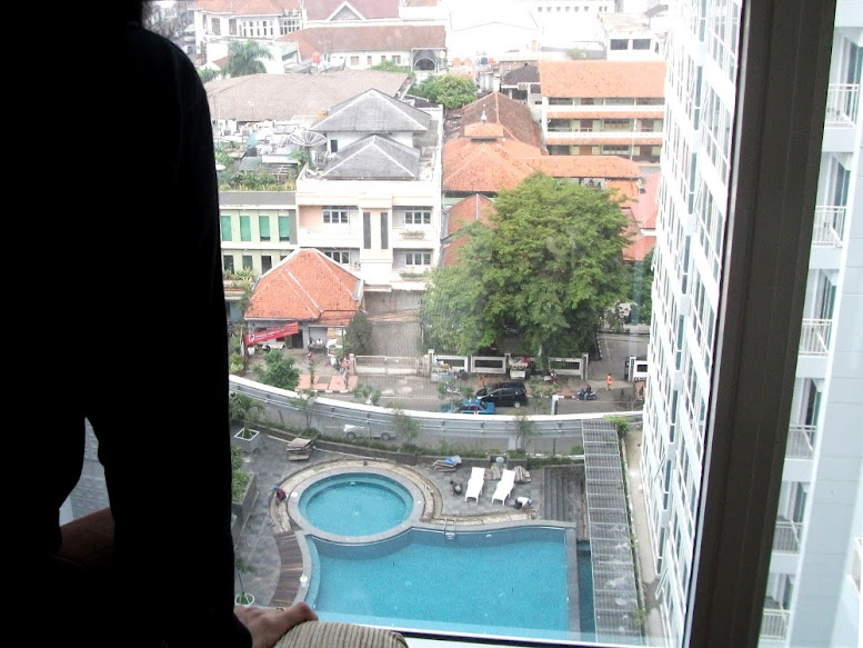 Panghegar's pool and city view